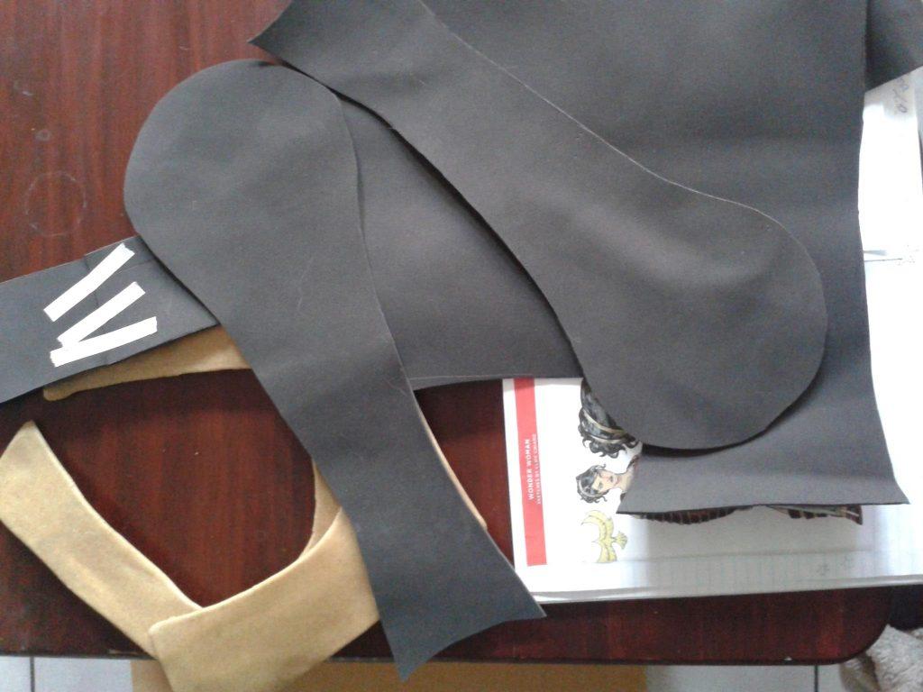 Foam patterns for the leg shins