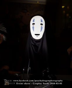 No face cosplay picture. kaonashi from spirited away Photo by Peachy Dragon Photography