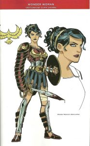 Drawing of Wonder Woman's Divine Armour from the comic book