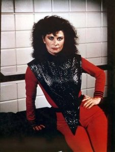 A photograph of Jane Badler as Diana from V TV Show