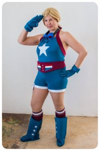 Stargirl Cosplay saluting